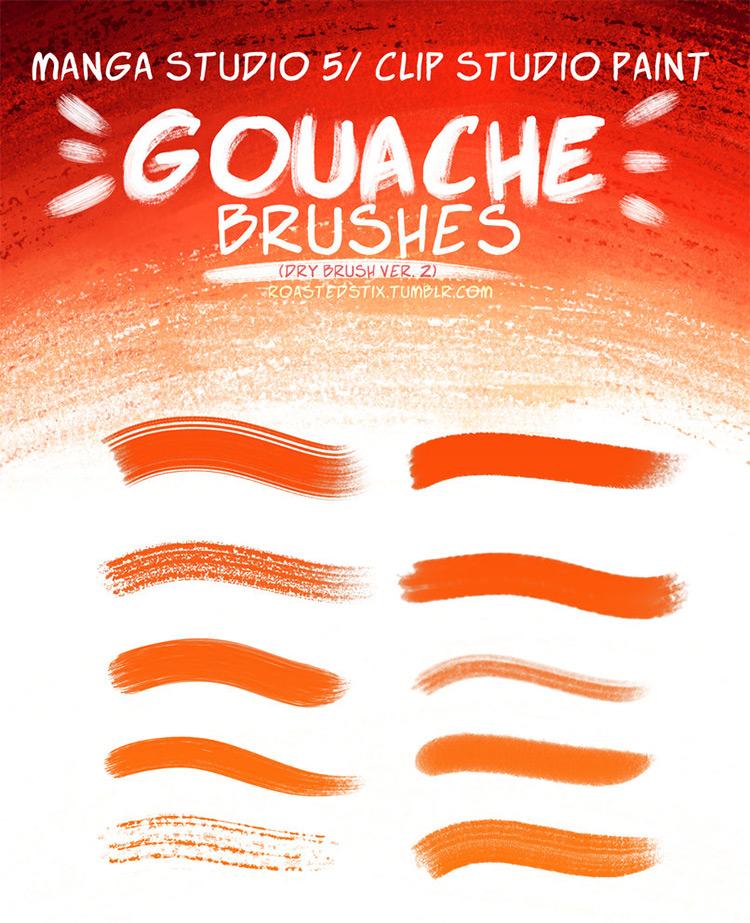 Gouach Brushes for ClipStudioPaint