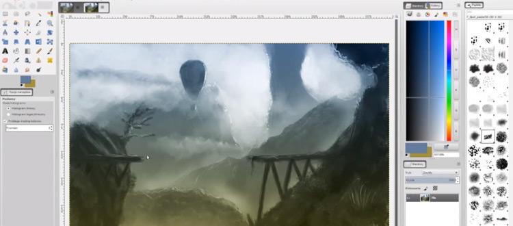 GIMP environment painting