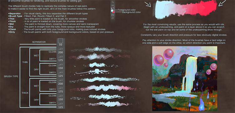 digital oil brushes