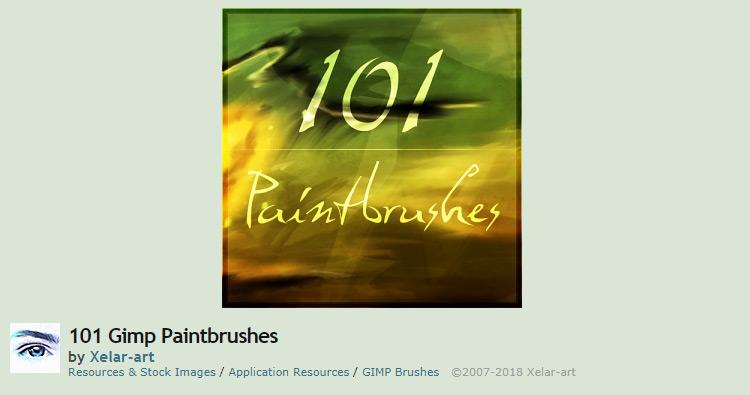 101 gimp brush set