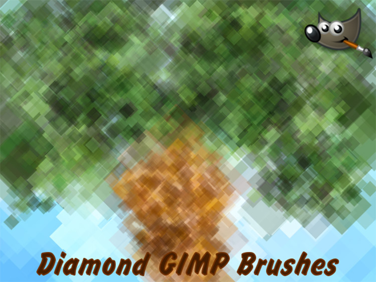 GIMP diamond brushes