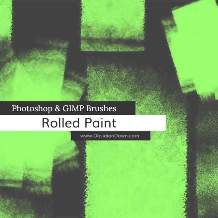 Gimp Paintroller brushes