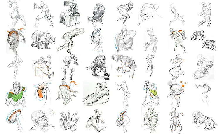 DrawingForce sketches