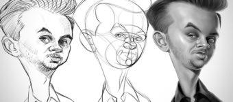 Proko Caricature sketches