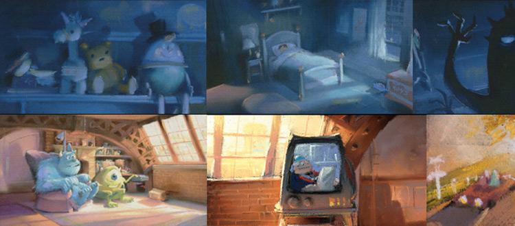 pixar artbook color scripts