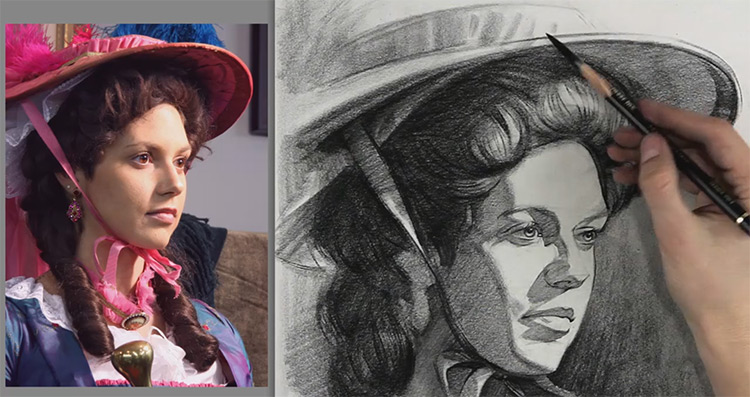 portrait drawing example stan
