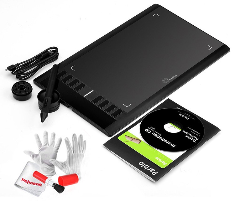 package contents a610 parblo tablet