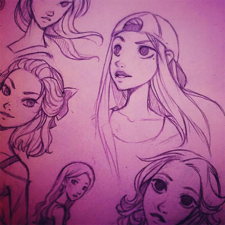kala sketch drawings sketchbook