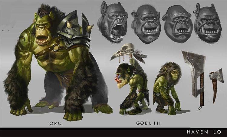 goblin orc concept art creatures