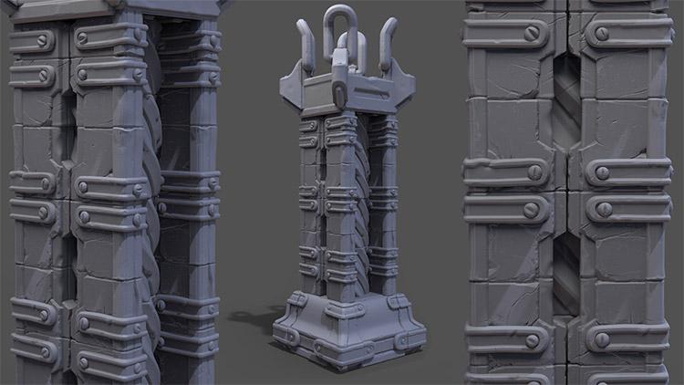 sculpting modular structures zbrush
