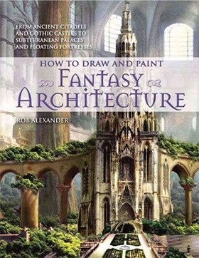 draw paint fantasy architecture