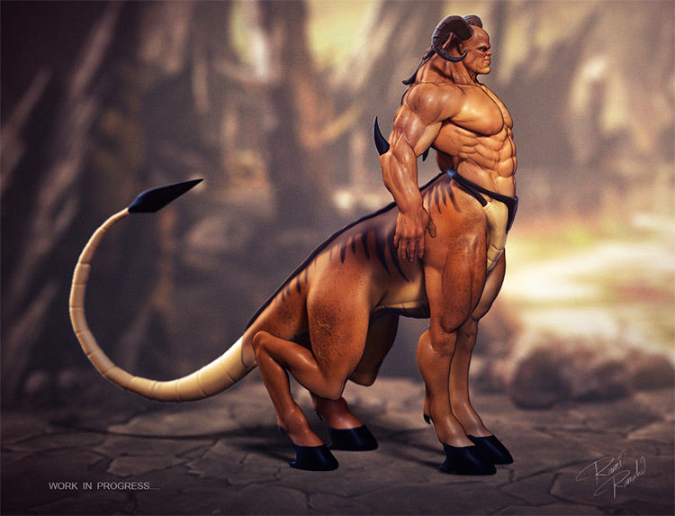 tail centaur creature art