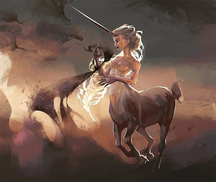 unicorn centaur creature art