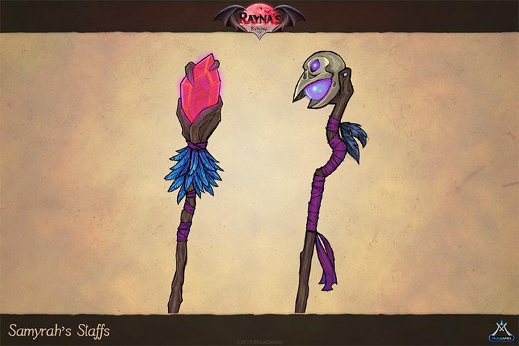 samyrahs staff concept art weapons