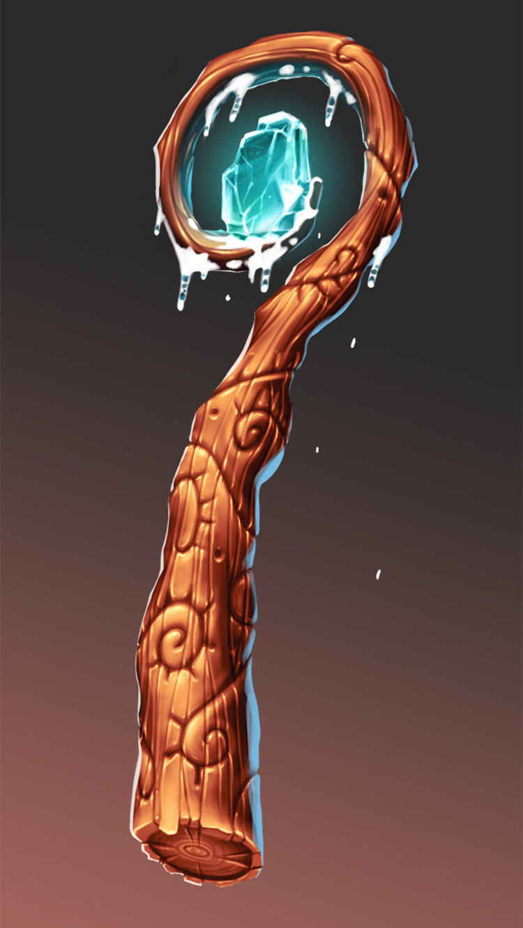 ice staff frost concept art