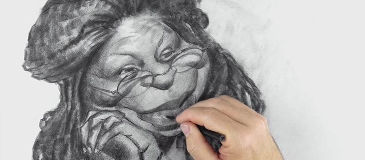 whoopie goldberg - art of caricature