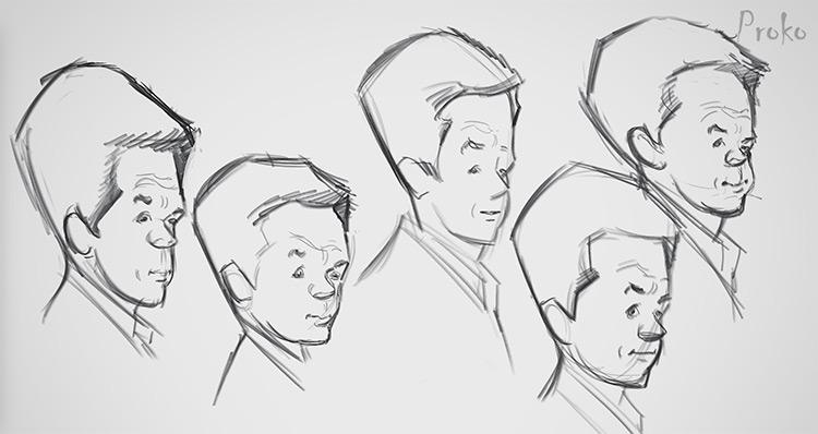 thumbnail sketches of mark wahlberg