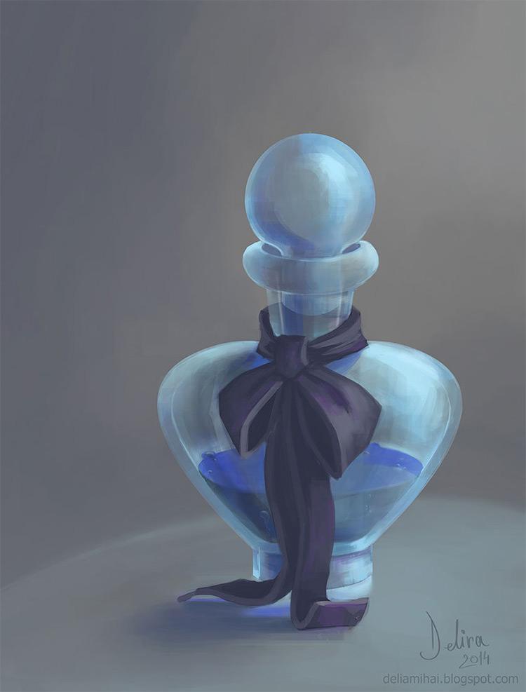 blue love potion concept