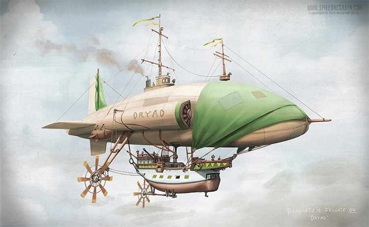 pirate ship concept dryad