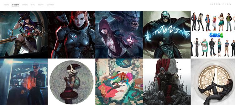 jason chan concept portfolio site