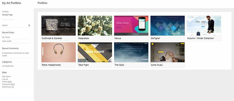 example of hugeit portfolio page