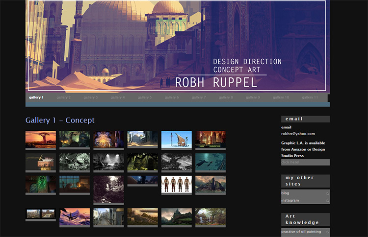 robh ruppel concept artists website