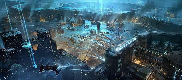 aweinspiring futuristic city art amp cityscape concepts