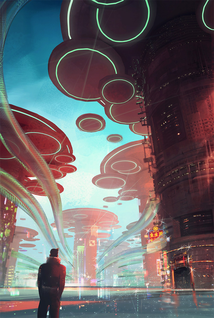 Deep perspective in a future city