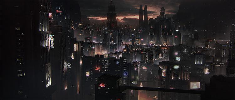 Dark Cityscape at night
