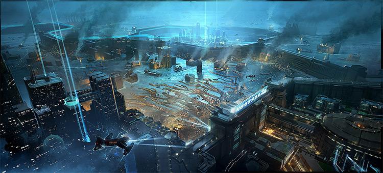 Neo Seoul Cityscape Concept Art