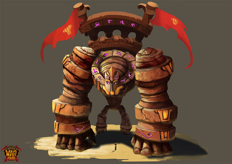 Rock Golem Boss Creature