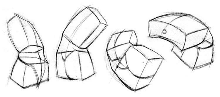 proko figure robo bean drawing shapes