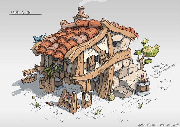 exterior wine shop inspiration hut concept
