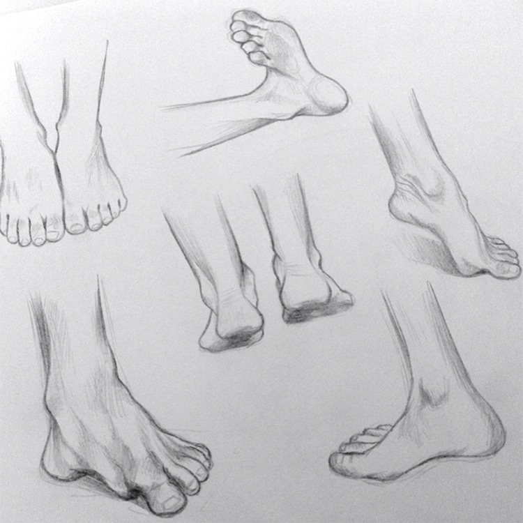 Practicing feet drawing