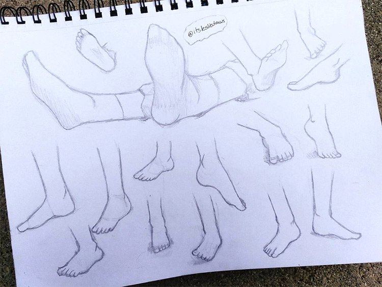 Basic feet sketches