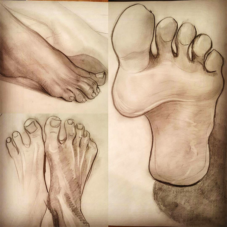Clean linework in feet drawings