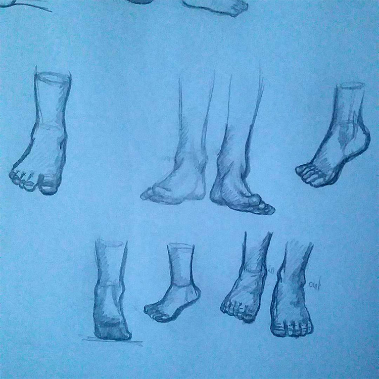 Simple feet sketches
