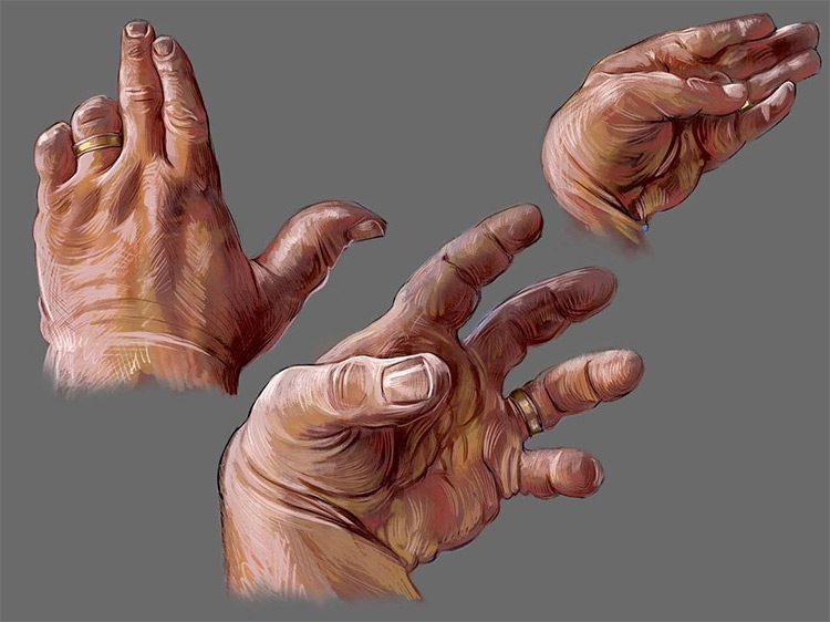 Colorful digital hand drawing & painting