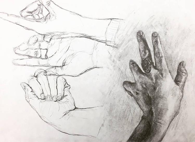 Line Art Hand : Drawings of hands quick sketches hand studies