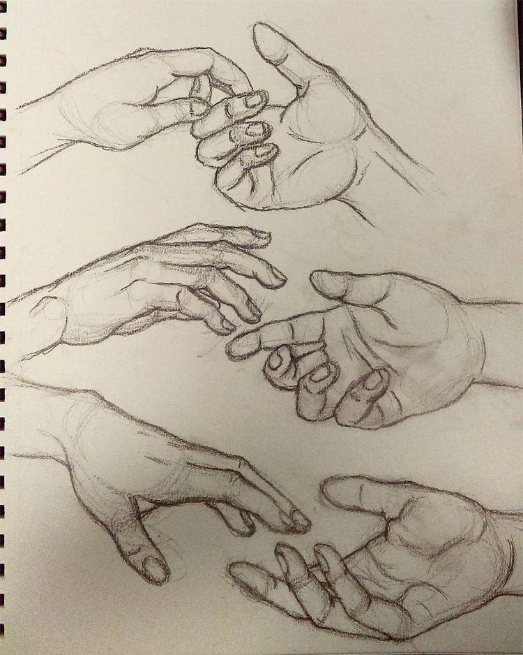 100+ Drawings Of Hands: Quick Sketches & Hand StudiesGrabbing Hand Drawing