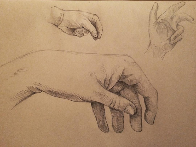 Popular 100+ Drawings Of Hands: Quick Sketches & Hand Studies AN64