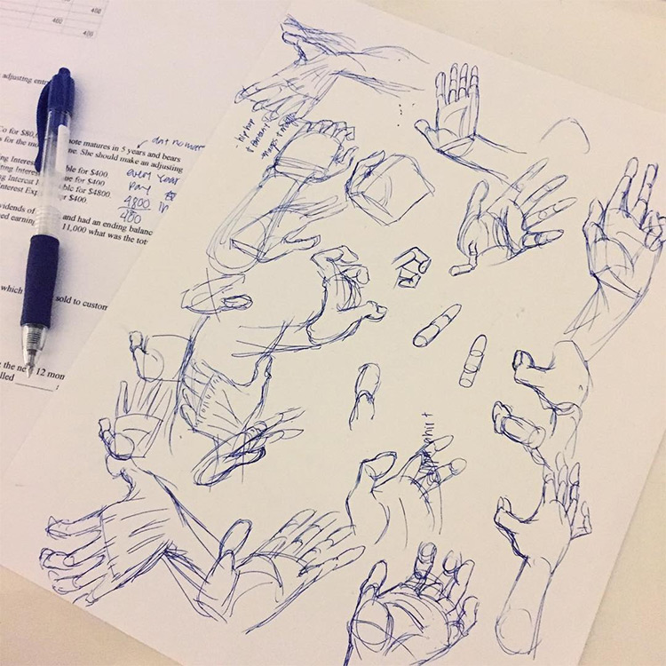 Very rough hand sketches