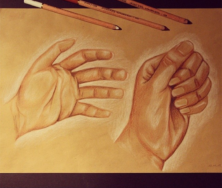 Detailed and colorful hands
