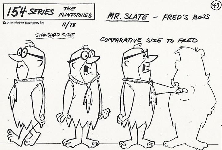 mr slate the flintstones model sheet