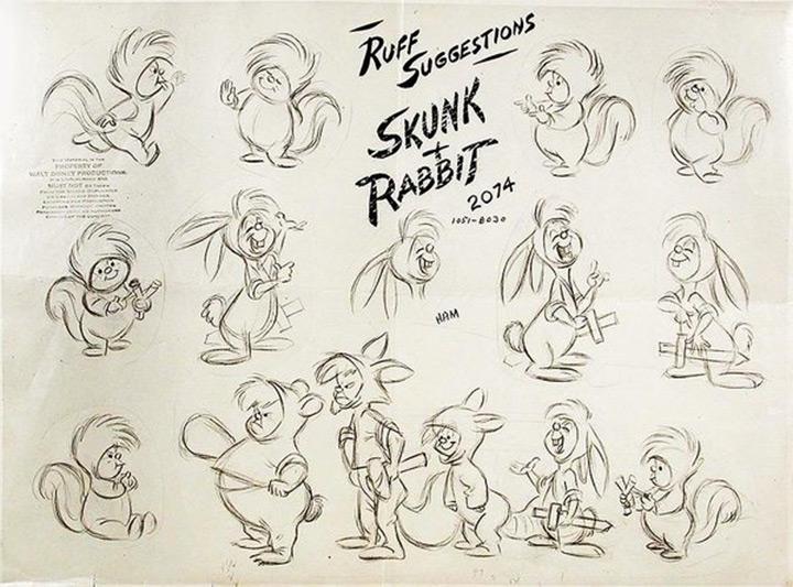 peter pans lost boys skunk rabbit