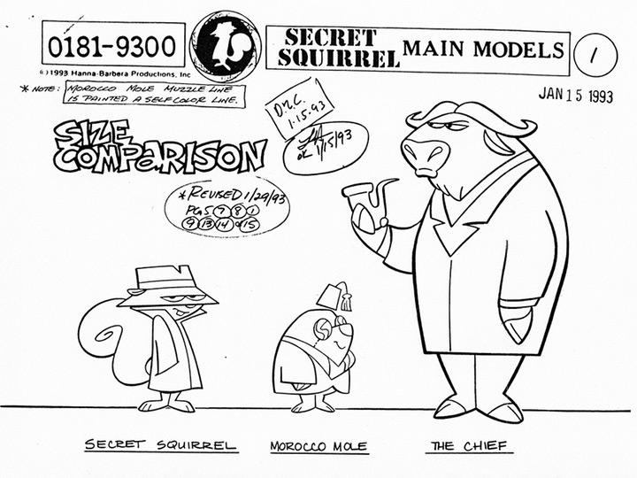 remake secret squirrel 1993 model sheet