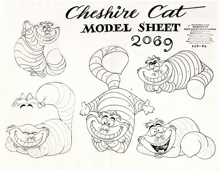 cheshire cat 1950 model sheet