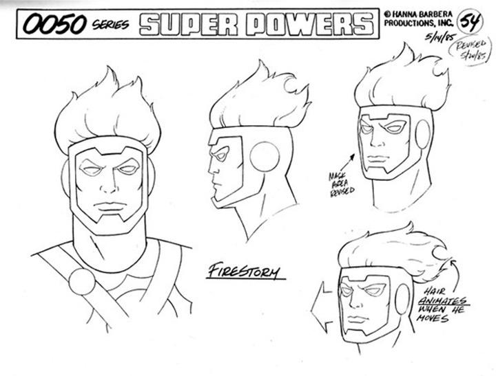 firestorm super powers model sheet