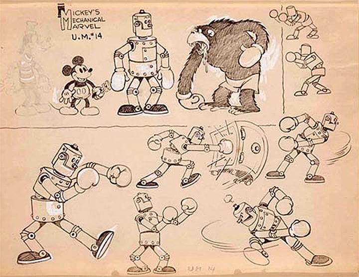 mickey mechanical marvel 1933 robot