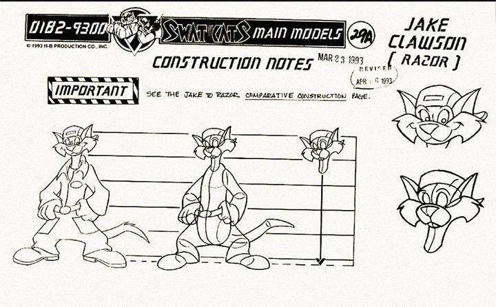 swat kats model sheet